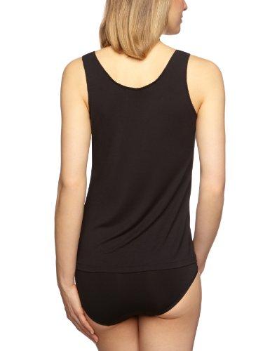 Schiesser - Camiseta interior para mujer Negro 000