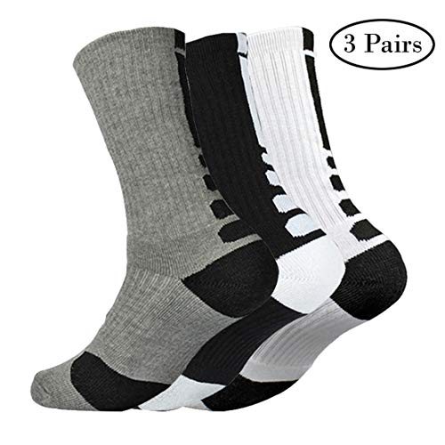 2f3034b2c0239 Mens Dri-fit Cushioned Basketball Socks Athletic Long Compression Socks 5  or 6 Pack (