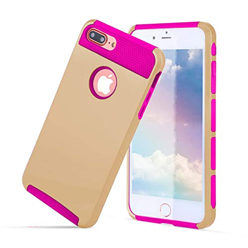 Compatible with iPhone 6S/6 Case, Heavy Duty Slim Shockproof Drop Protection 2 in 1 Hybrid Hard PC Covers Soft Rubber Bumper Protective Anti Slip Case for iPhone 6 / 6S - Hold/Rose (Hybrid Arrow Goggle Belt)