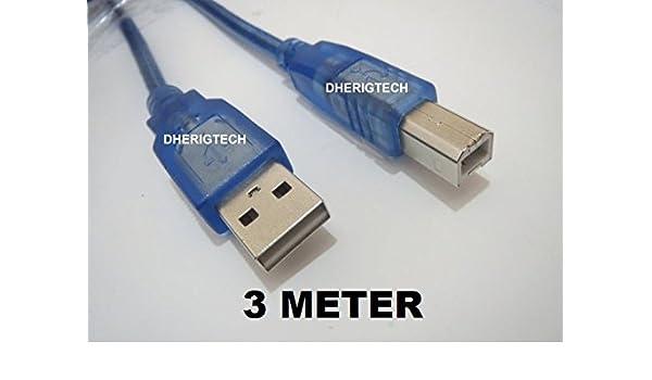 3 METER USB impresora CABLE de datos para impresoras CANON ...