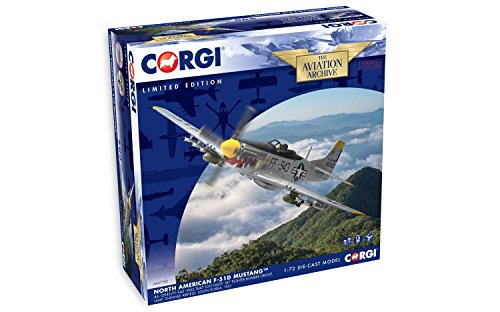 "Corgi North American F-51D Mustang 'Was that too fast"" 1:72 Diecast Aviation Archive -  Hornby, AA27702"