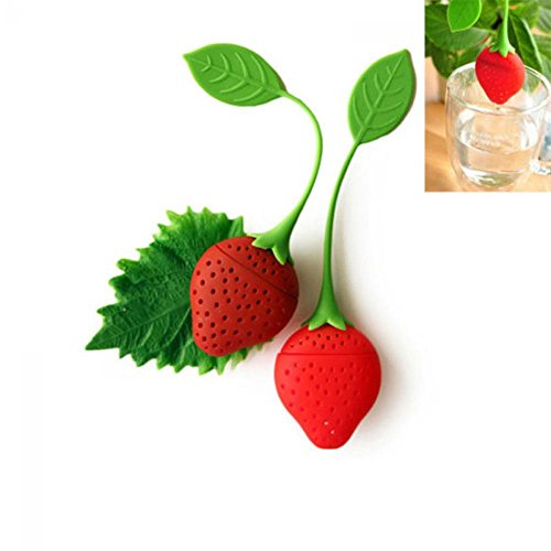 Unmengii Kitchen Diffuser Filter Tea Leaf Strainer Silicone Herbal Spice Strawberry