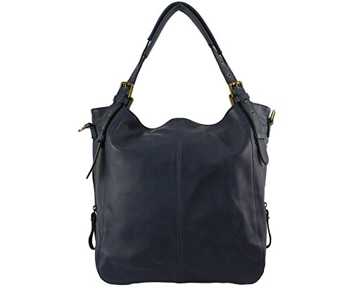 Chloly Grazzia Bleu Jeans - Leather Tote Bag For Women Blue One Size Jeans Bleu