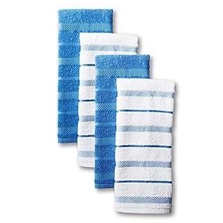 KitchenAid Albany Kitchen Towel Set, Set of 4, Cornflower 4 Count