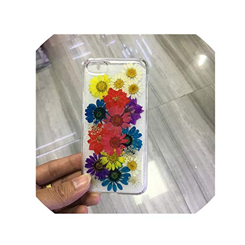 Dried Real Flower Case Case Handmade Clear Pressed Soft Cover for iPhone 7 Case for iPhone X Xs Max Xr 8 7 6S Plus,I,for iPhone 6 6S (Iphone 3gs Nike Case)