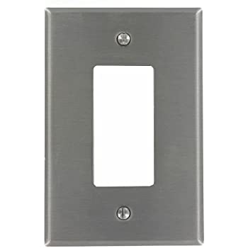 leviton so26 1gang decoragfci device decora wallplate device mount stainless