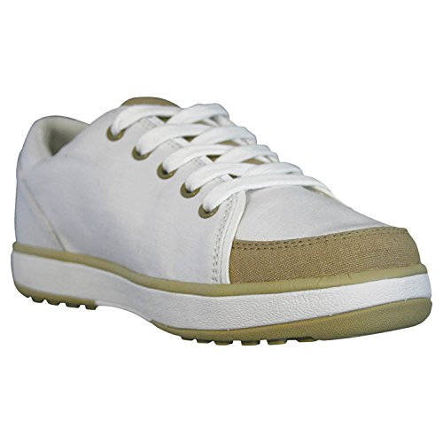Dawgs Womens' Crossover Golf Shoes White with Tan Size (Tan Womens Golf Shoe)