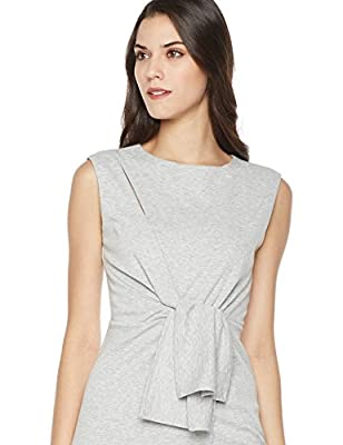Mariella Bella Women's Sleeveless Knit Dress With Knot and Cutout Details