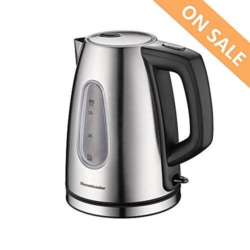 Electric Kettle 1.7L Stainless Steel Tea Kettle with Auto Sh
