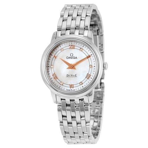 Omega DeVille Mother of Pearl Dial Stainless Steel Ladies...