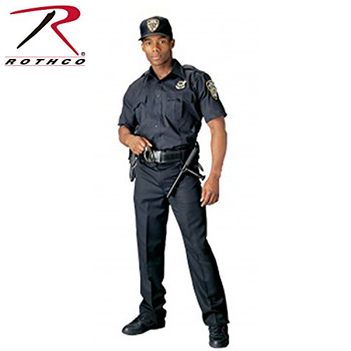 Police Uniform (Rothco Short Sleeve Uniform Shirt - Navy Blue, Large)