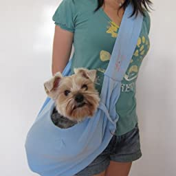FuzzyGreen Blue Practical Reversible Design Hands-free Style Sling Precision Pet Dogs Cat Carrier Bag
