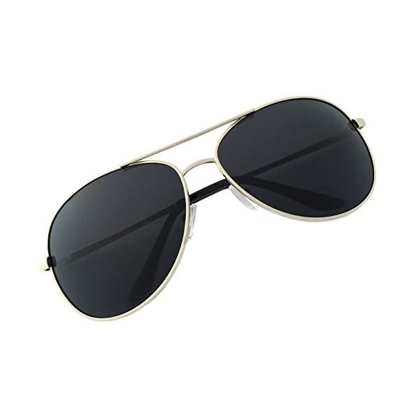 J+S Premium Military Style Classic Aviator Sunglasses, Polarized, 100% UV protection
