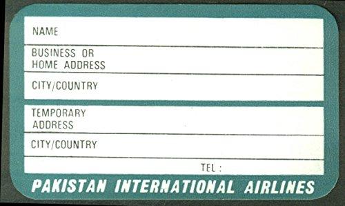 Pakistan International Airlines crack-&-peel airline baggage sticker unused