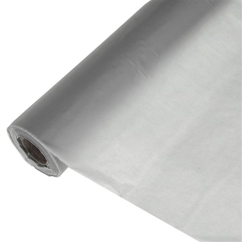 Homeford Firefly Imports Banquet Plastic Table Roll Uncut, 40-Inch x 100 Feet, Silver, 100']()