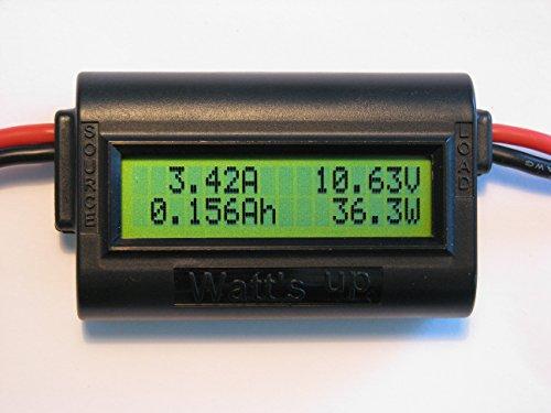 "RC Electronics, Inc. ""Watt's Up"" WU100 DC Watt meter and Power Analyzer (Black)"