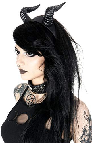 Restyle Gothic Beleth Headband Nugoth Satan Devils Horns Headpiece