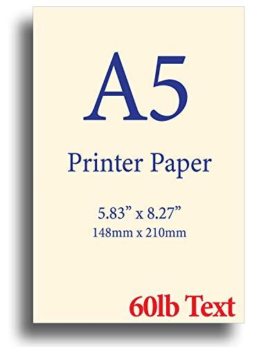 Natural Cream A5 Printer Paper - 8.3