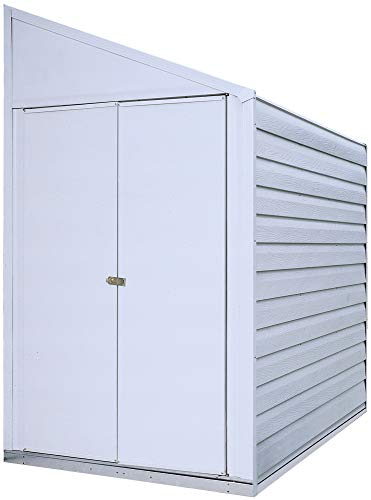 Garden and Outdoor Arrow 4′ x 7′ Yardsaver Compact Galvanized Steel Storage Shed with Pent Roof outdoor storage sheds