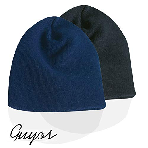 Guyos Beanie for Women and Men Unisex Cuffed Plain Skull Toboggan Warm Double Layer Knit Hat and Cap