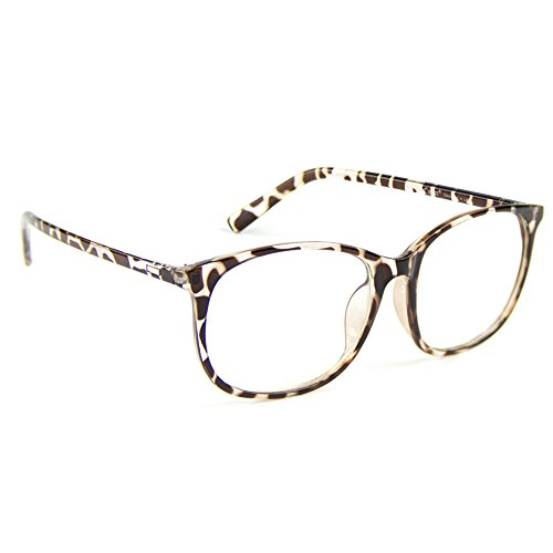 (Cyxus Blue Light Filter Computer Glasses for Blocking UV Headache [Anti Eye Fatigue] Transparent Lens Unisex (Leopard Print) )