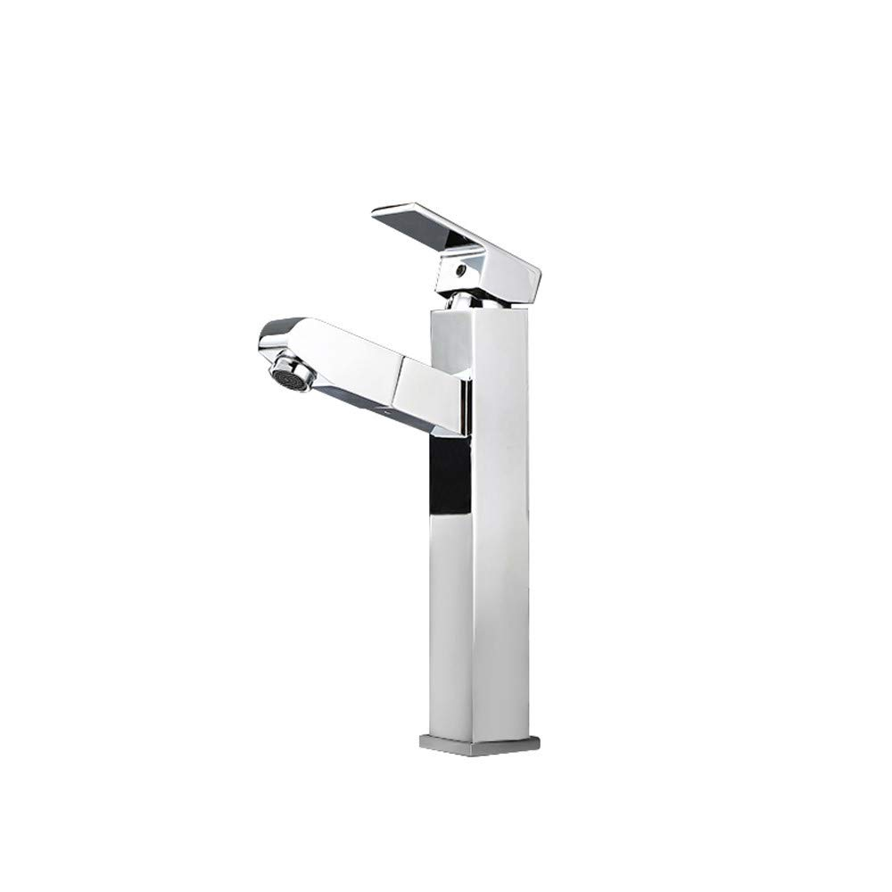 Bathroom Sink Faucet,Single Lever Basin Sink Mixer Tap One Hole Deck Mount Hot And Cold Bathroom Basin Sink Faucet,Chrome