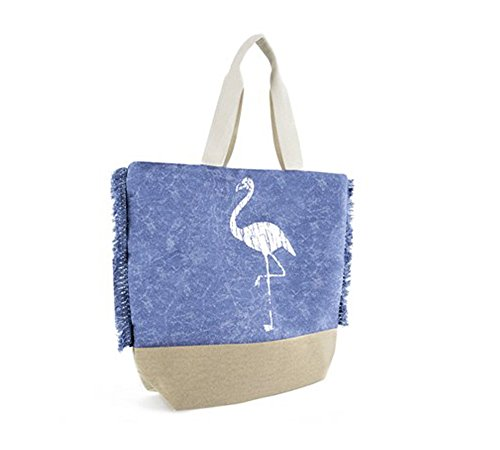 Shopping Bags Tote Bags in Fashionable Designs Flamingo Blue