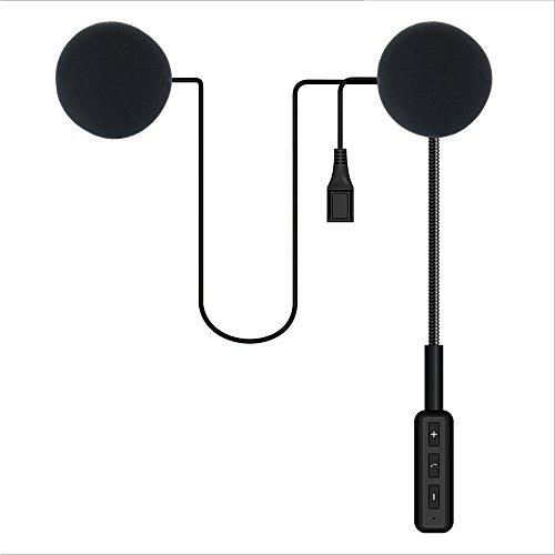 Casco de moto Bluetooth 4.1 auriculares, sistema de comunicación inalámbrico para casco de moto, azul (Bluetooth 4.0)