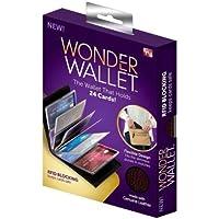 BeeShop(TM) Wonder Wallet Amazing Slim RFID Wallets As Seen on TV Black Leather