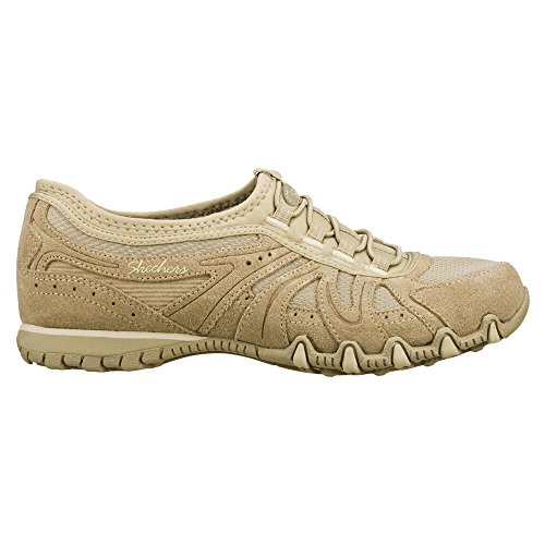 Skechers Active Bikers Bungee Laced Sneaker Taupe outlet reliable f7npycs9