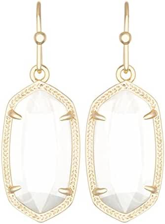 Kendra Scott Signature Dani Earrings in White Mother of Pearl and Gold Plated