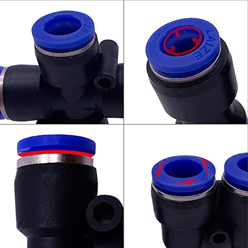 no logo WSF-Adapters Size : PK6 1pc Pneumatic Fittings PK 4mm 6mm 8mm 10mm 12mm Air Water Hose Tube One Touch Straight Push-in Plastic Quick Connector Tube Fitting
