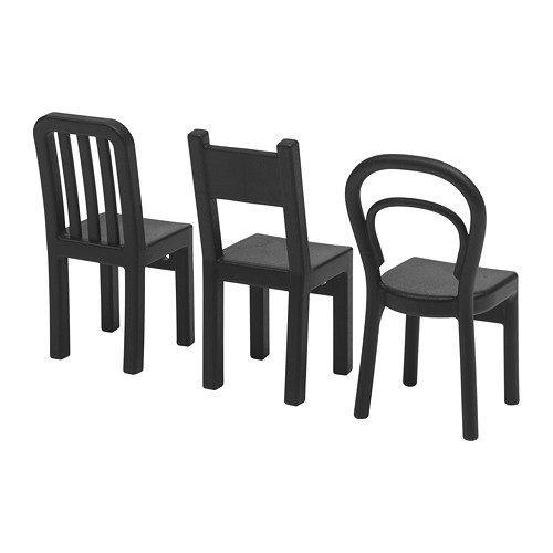 Ikea Fjantig gancho forma silla negros 12x6 cm 3 unidades: Amazon.es: Hogar