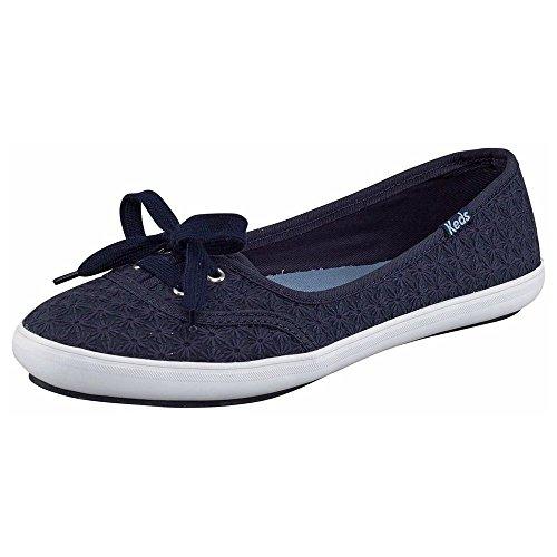 Keds Women's Teacup Mini Daisy Fashion Sneaker,Peacoat Navy, 6 B(M) (Blue Daisies Cup)