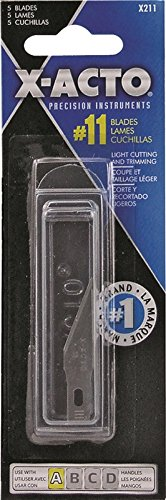 X Acto X211 5 Pack No. 11 Classic Fine Point Blades