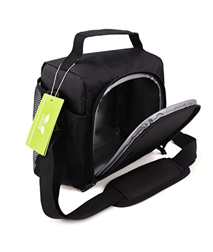 Insulated Lunch Bag Box F40C4TMP Cooler For Kids Boys Adult Medium Bento Bag for Office School Black 6 CANS