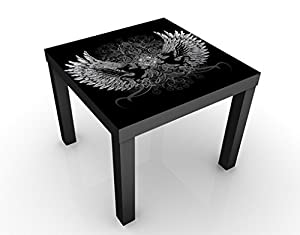 Apalis 46230–276835 Design Table Ailes de Dragon, 55 x 55 x 45 cm, Gris, 45x55
