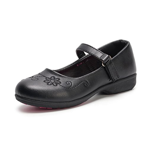 Hawkwell School Uniform Mary Jane Flat (Toddler/Little Kid),Black PU,1 M US (Black 1)