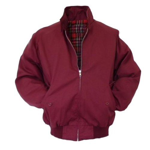 - Relco Mens Classic Harrington Jacket Burgundy M