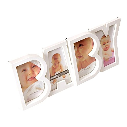 Baby Bilderrahmen in weiß - Baby Geburt Fotorahmen Galerierahmen Geburt