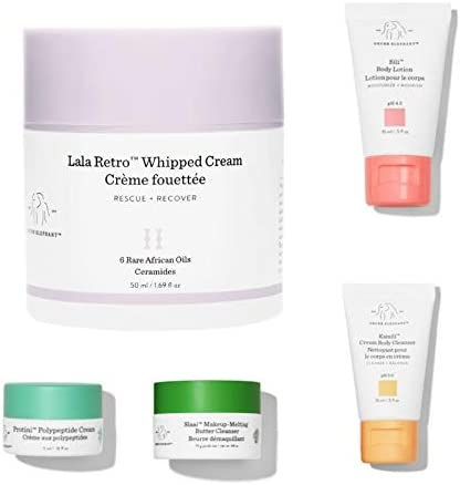 Drunk Elephant, Lala Retro™ Whipped Moisturizer 50ml + Skin's Happy Place Mini 4/set ミニ4セット [海外直送品]