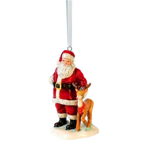 Royal Doulton Porcelain Figurine - Royal Doulton Santa with Reindeer Ornament