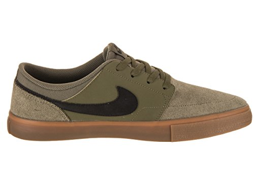 Nike SB Portmore II Solarsoft 880266-200, Baskets Mixte Adulte, Multicolore (Medium Olive/Medium Olive/Gum Medium Brown/Black 880266-200), 41 EU