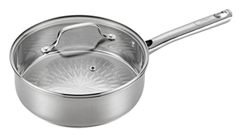 T-fal E76032 Performa Stainless Steel Dishwasher Safe Oven Safe Deep Saute Pan Cookware, 3.5-Quart, Silver by T-fal