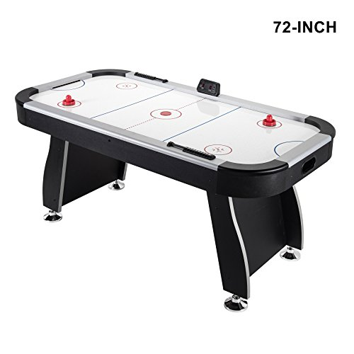 Foot Hockey Table - Pinty Foosball Table 48''/50''/55''/72''/84'' Competition Sized Soccer Game Table/Hockey Table for Family Use Game Room (72'' Air Hockey Table)