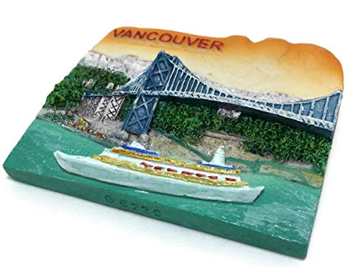 (Vancouver Tourism Canada Souvenir Collection 3D Fridge Refrigerator Magnet Hand Made Resin)