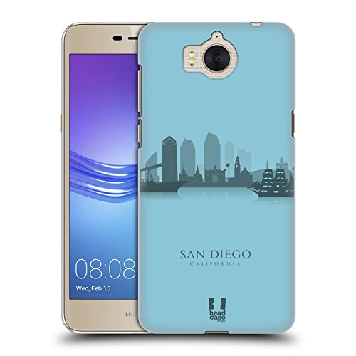 Young Diego (Head Case Designs San Diego Landmark Silhouettes - Us Hard Back Case for Huawei Y6 (2017) / Nova Young)