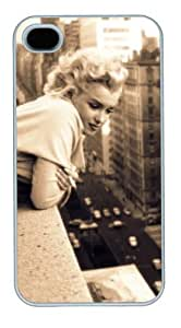 Monroe 25 PC Case White for iPhone 4 4s by heywan