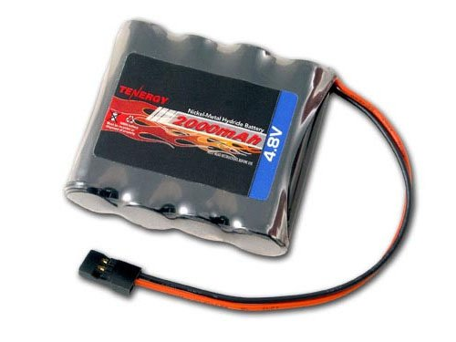 4.8v Pack Receiver (Tenergy 4.8V 2000mAh NiMH Receiver RX Battery with Hitec connectors for RC Cars and Airplanes)