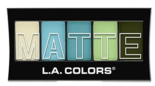 L.A. Colors 5 Color Matte Eyeshadow, Teal Argyle, 0.08 -